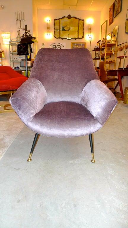 Petite Italian Club Chair For Sale 4