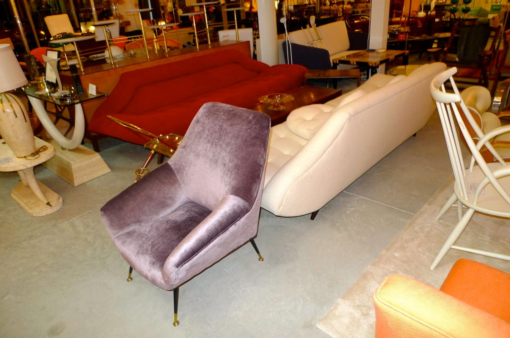 Petite Italian Club Chair In Excellent Condition For Sale In Hingham, MA