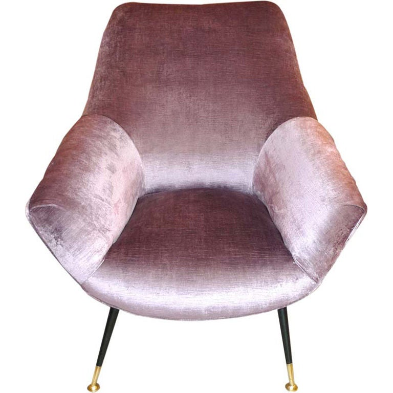Petite Italian Club Chair For Sale