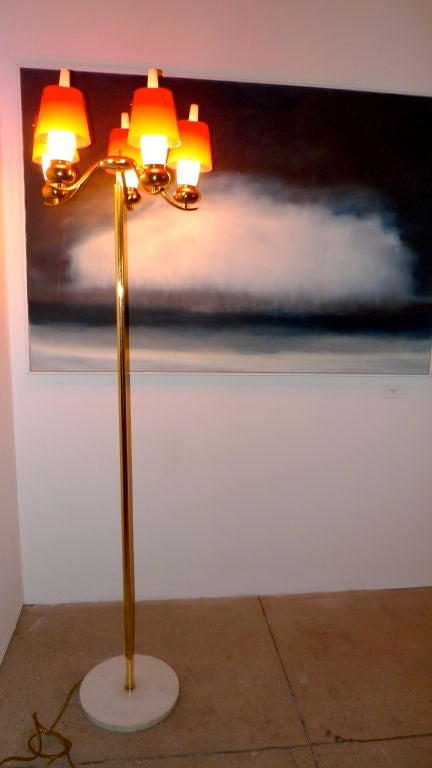 Angelo Lelii for Arredoluce Monza Floor Lamp, Documented 7