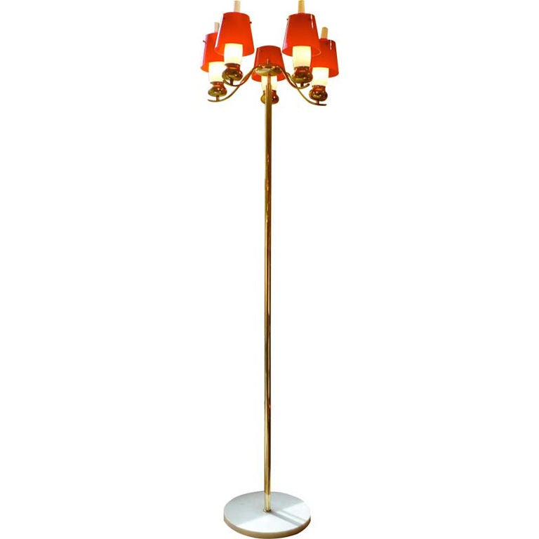Angelo Lelii for Arredoluce Monza Floor Lamp, Documented 1