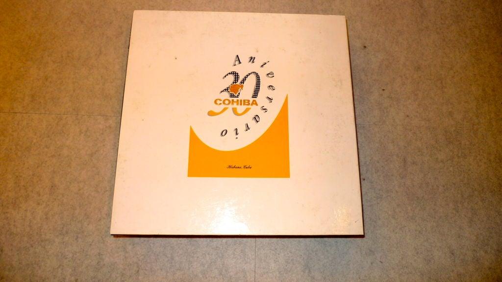 Cohiba 30th Anniversary special edition cigar ashtray. Produced in Spain by Bidasoa in 1996. Includes original presentation box. Unused.