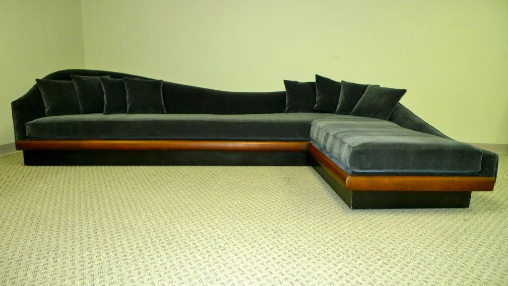 Platform Sofa : Curvaceous L Shaped Platform Sofa at 1stdibs
