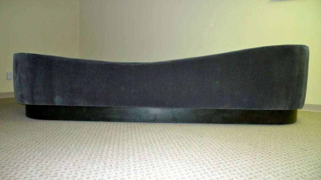 Platform Sofa : Curvaceous L Shaped Platform Sofa For Sale at 1stdibs