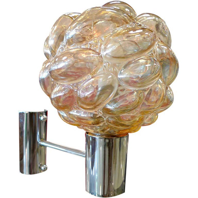 Austrian Glass Bubble Sconce For Sale at 1stdibs