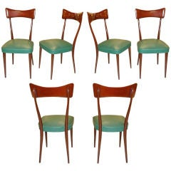 Set of 6 Dining Chairs after Ico Parisi