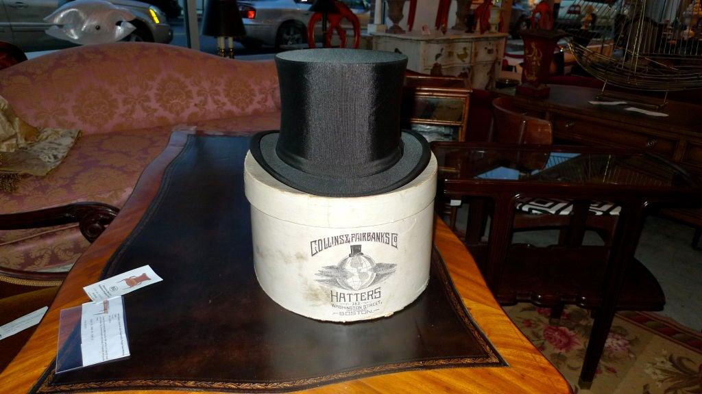Black Moray Silk Opera Hat 2