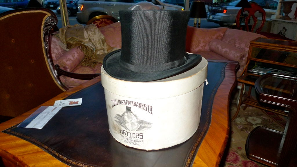 Black Moray Silk Opera Hat 3
