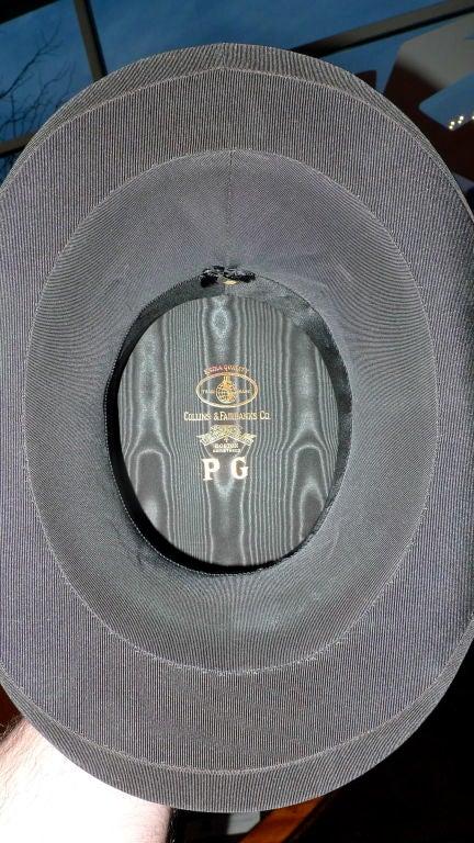 Black Moray Silk Opera Hat 5