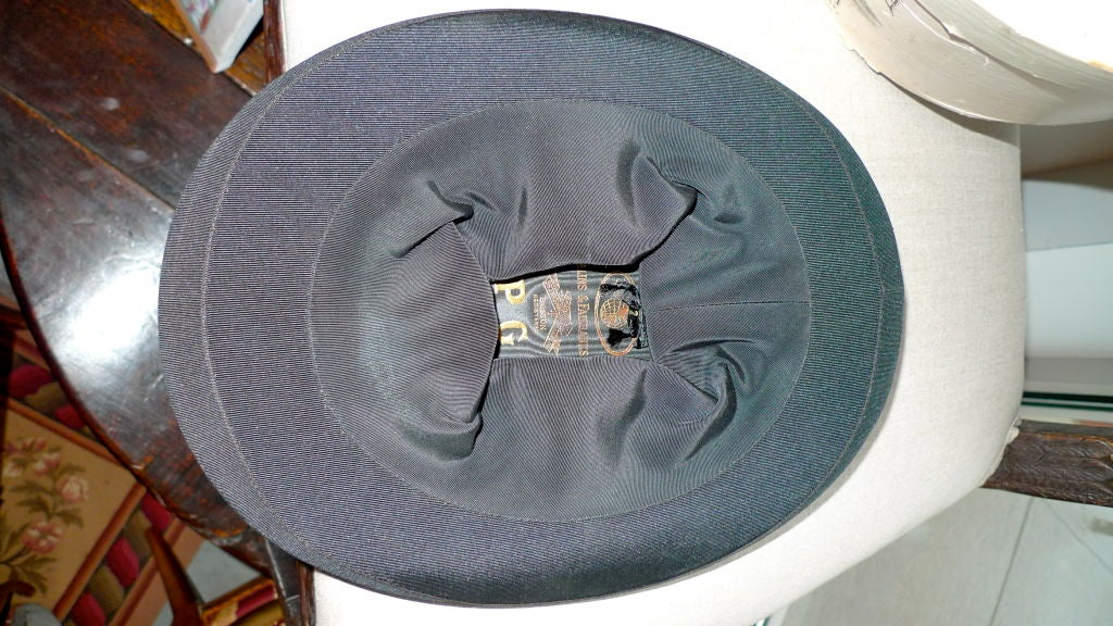 Black Moray Silk Opera Hat 8