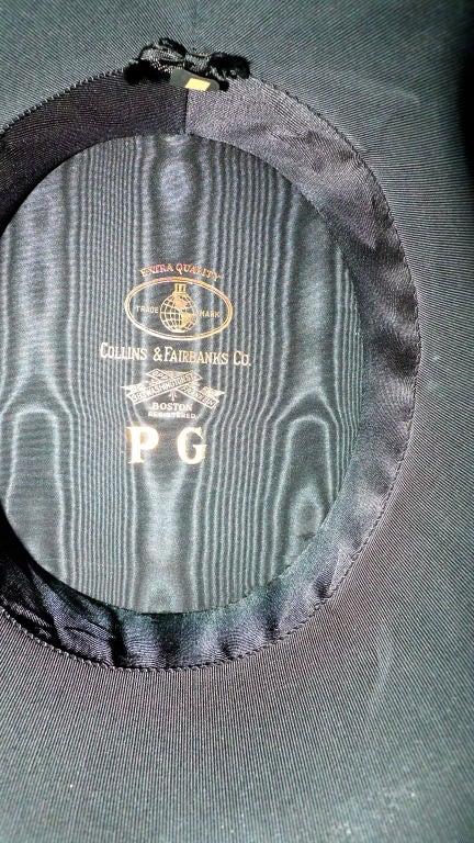 Black Moray Silk Opera Hat 9