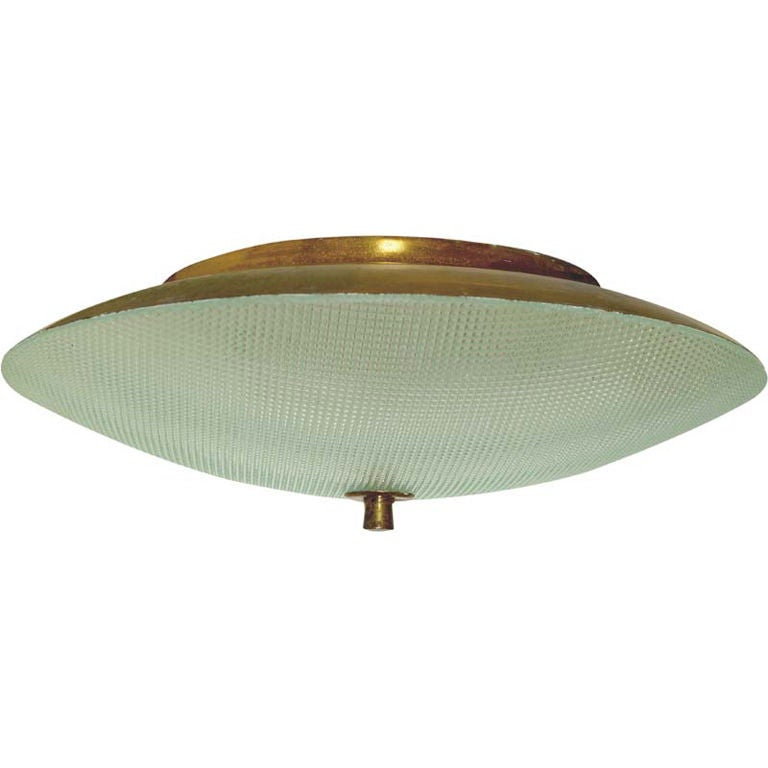 Italian diamond cut glass round flush mount ceiling fixture at 1stdibs italian diamond cut glass round flush mount ceiling fixture for sale aloadofball