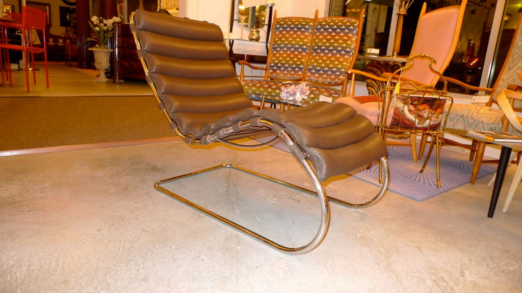 MR Chaise Lounge by Mies van der Rohe for Knoll Studio at