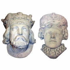 Medieval King & Queen Decorative Wall Planters