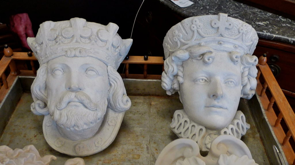 Medieval King & Queen Decorative Wall Planters 2
