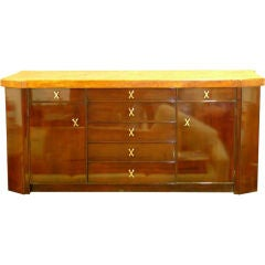 Paul Frankl Mahogany Sideboard with Cork Top