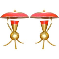 Pair of Petite French Modernist Desk Lamps