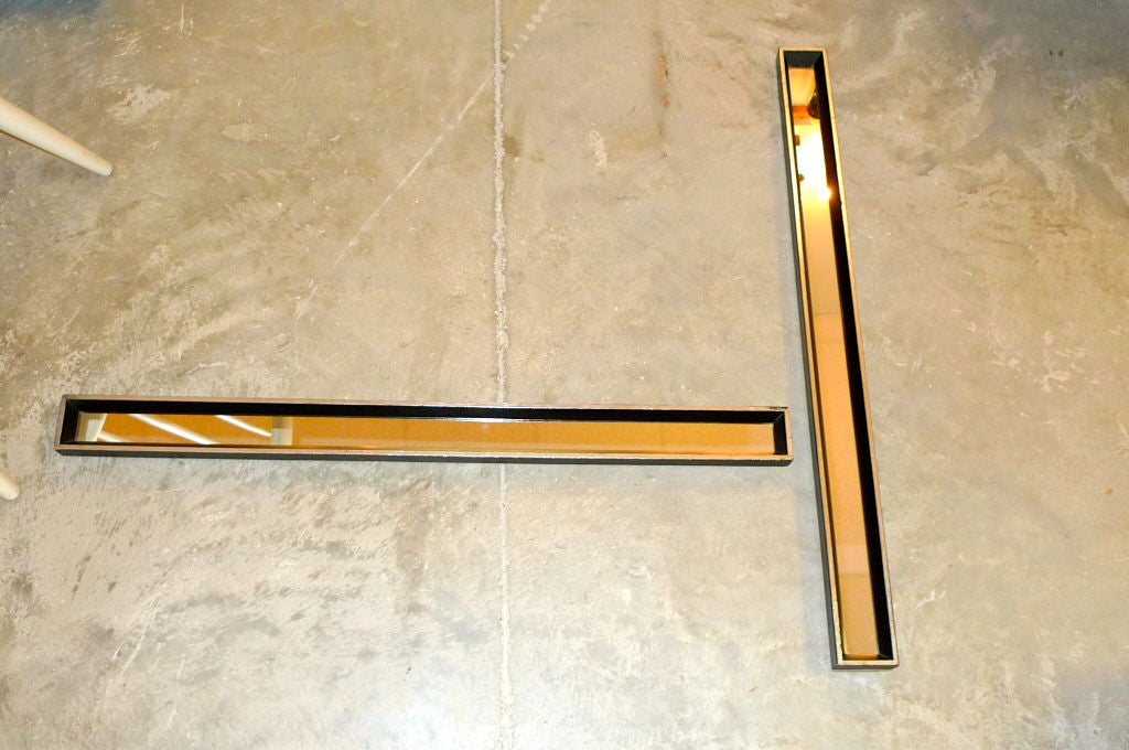 Pair of framed long slim mirrors by turner arts at 1stdibs for Long framed mirror