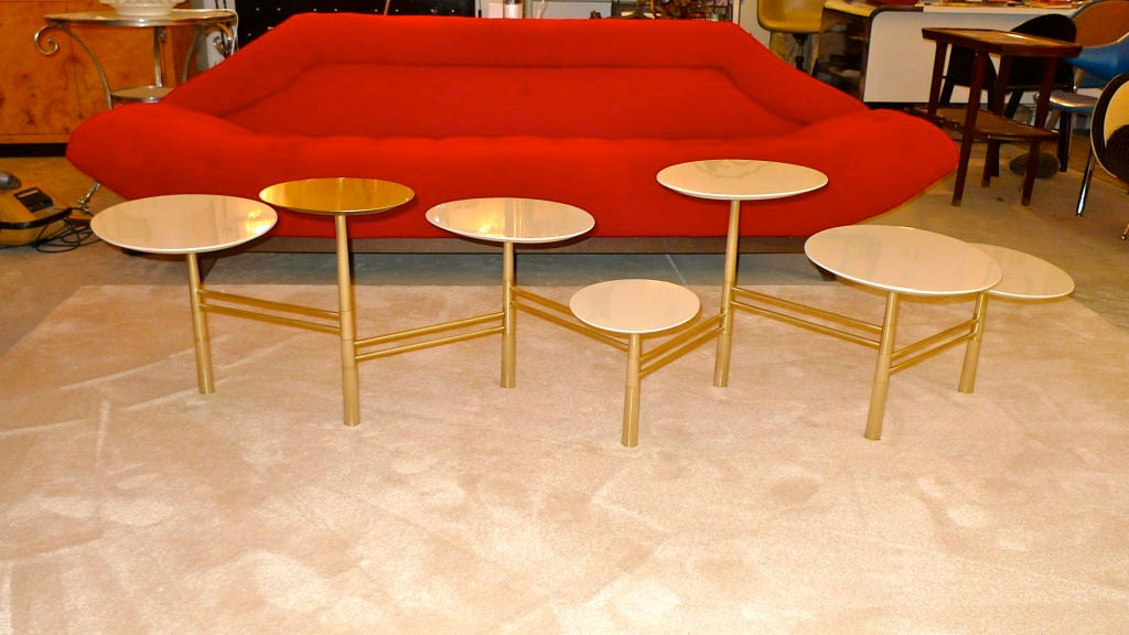 Iraqi born, RISD trained and Beirut based artist/designer, Nada Debs has created what I believe is the first design icon of the 21st century.  The configuration of this stunning multi-tiered cocktail table is infinitely flexible and a joy to play