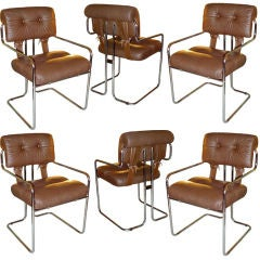 Set of 6 Tucroma Dining Chairs by Mariani for Pace Collection