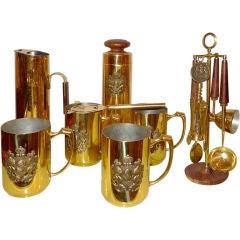 Italian Brass Barware