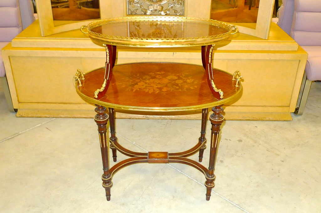 Table 192 Th 201 Louis Xvi Style Two Tier Dessert Table At