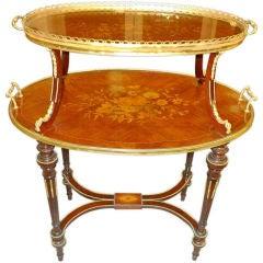 TABLE À THÉ - Louis XVI Style Two Tier Dessert Table