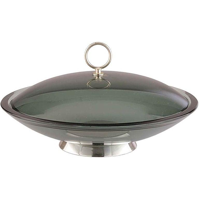 Fontana Arte Lidded Bowl by Max Ingrand For Sale