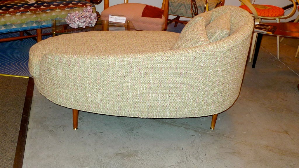 Adrian Pearsall Curved Oval Chaise At 1stdibs