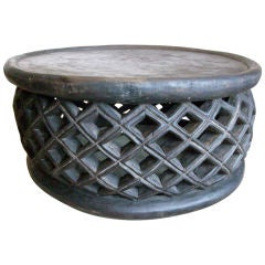 Round African Coffee Table
