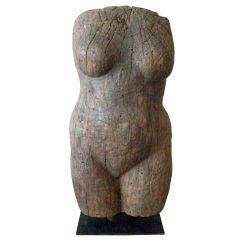 Hand Carved Argentine Wood Torso