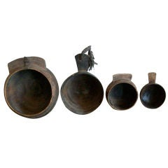 Yemen/Saudi Border Wooden Bowl - Collection of four