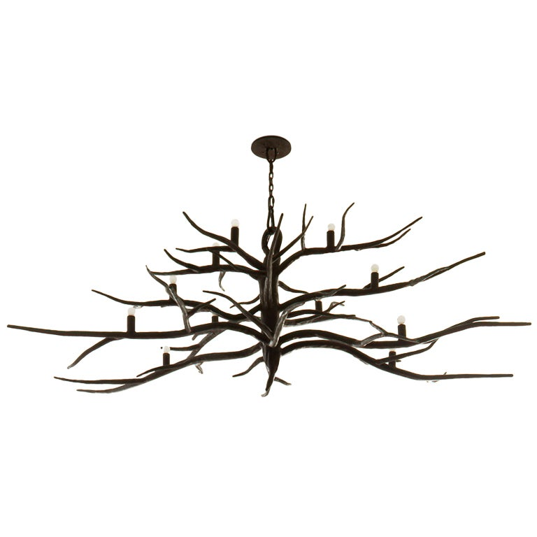 Iron Branch Chandelier at 1stdibs