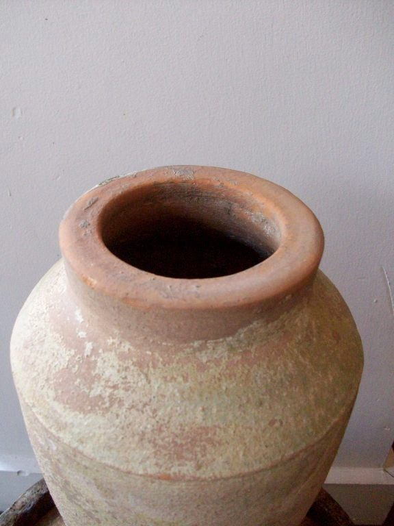 Han Dynasty Tomb Pot With Worn Green Glaze For Sale at 1stdibs