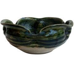 18th Century -Edo Period Japanese Small Oribe Bowl
