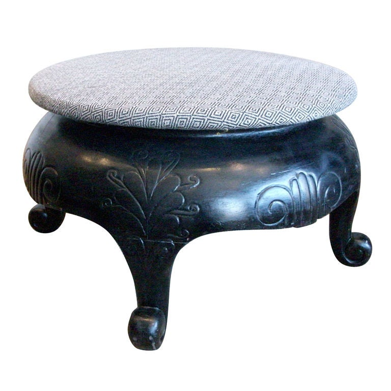 Chinese Lacquer Stool At 1stdibs