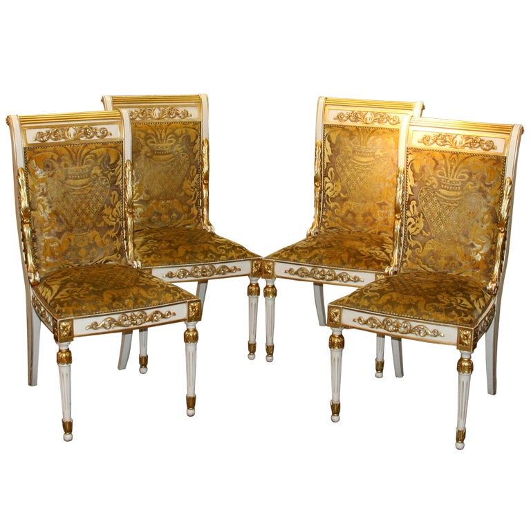 Set Of 4 Gianni Versace Chairs At 1stdibs