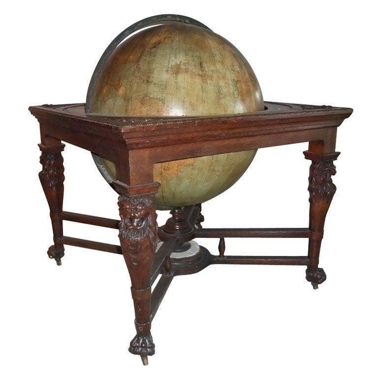 "Oversised"" Library- Desk ""Terrestrial Globe, New York, 19th Century For Sale"