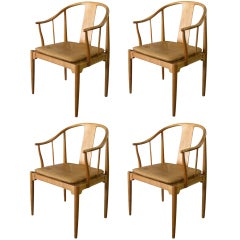 "4 Chairs By Hans Wegner "" China Chair """