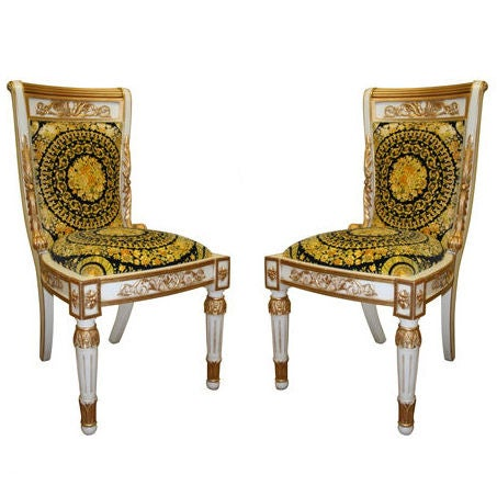 Versace Pair Of Chairs at 1stdibs