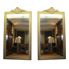 Pair Of Huge & Classical French Mirrors