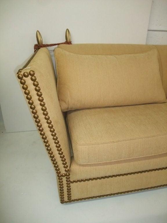 French Elegant and Comfortable Sofa yellow fabric