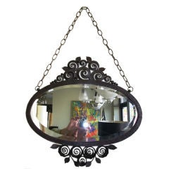 Metal Mirror Attributed to Edgard Brandt