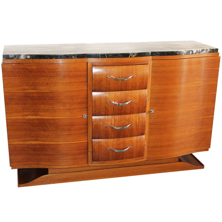 art deco walnut french buffet at 1stdibs. Black Bedroom Furniture Sets. Home Design Ideas