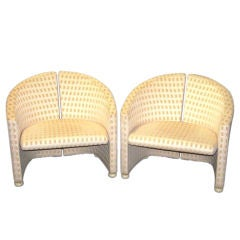 Mid-Century Saporiti Pair of Armchairs