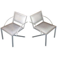 Pair of Armchairs Designed by Jean Michel Wilmotte