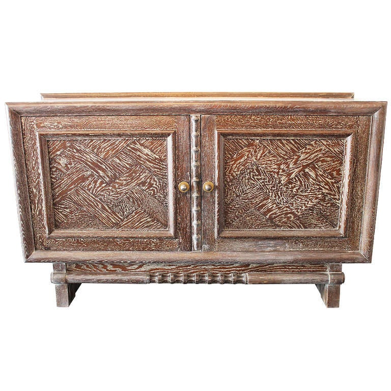 art deco cerused oak buffet by m champion for sale at 1stdibs. Black Bedroom Furniture Sets. Home Design Ideas
