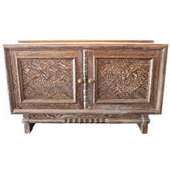 art deco cerused oak buffet by m champion