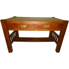 Stickley Sty Arts And Crafts Desk Table