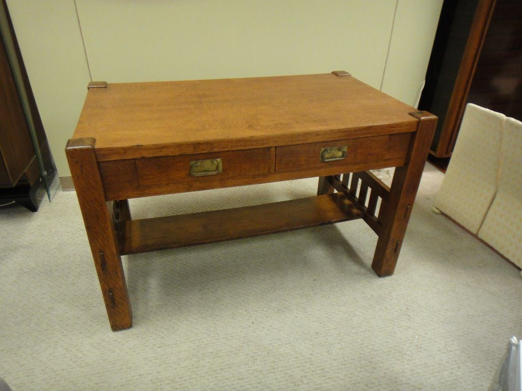 Stickley sty arts and crafts desk table at 1stdibs for Art and craft workstation